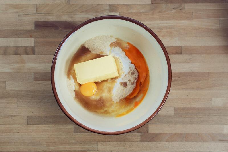 mehl, zucker, butter